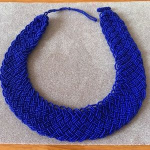 Himalayan Gems blue potay beaded necklace, FIRM $